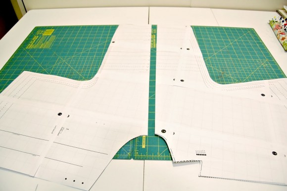 Cutting the Firefly Jacket pattern to work with napped fabric