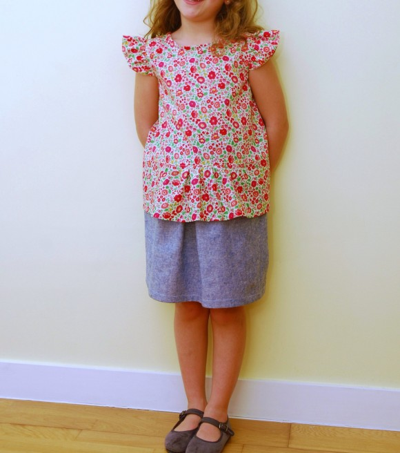 Oliver + S Butterfly Blouse + Skirt