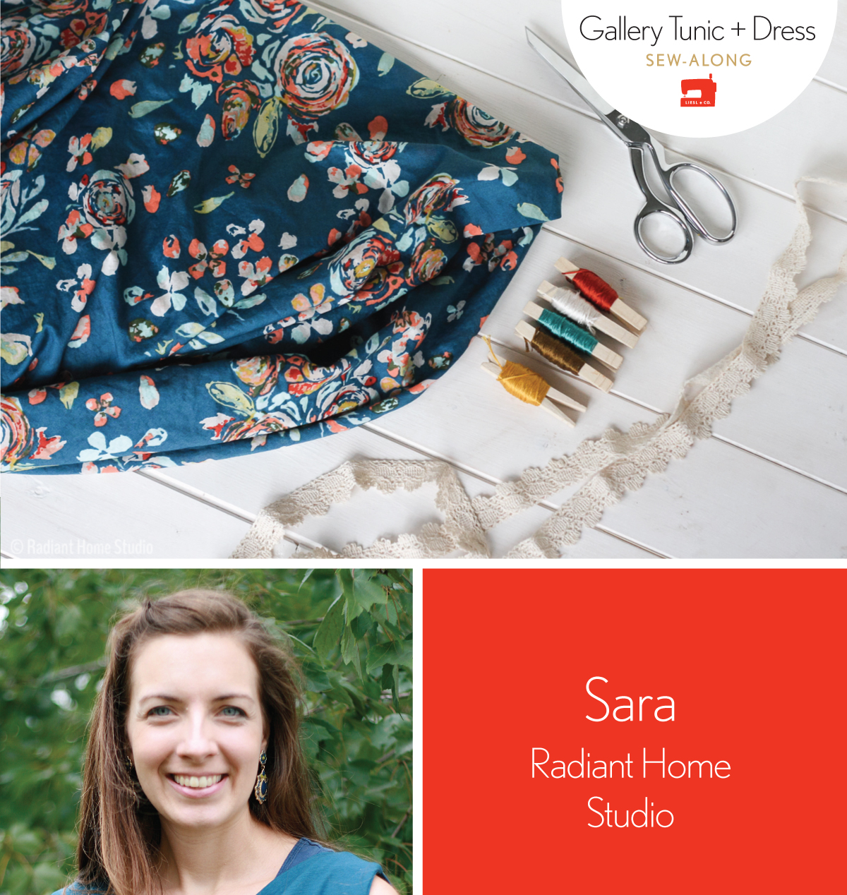 gallery tunic + dress sew-along panelist: sara from radiant home studio