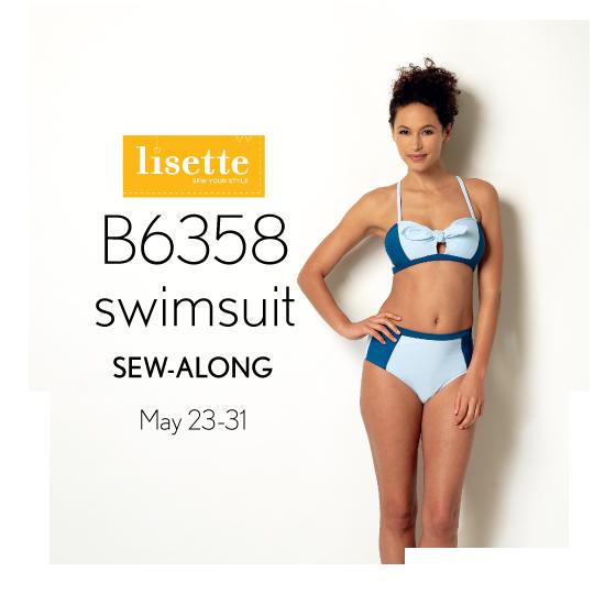 Lisette Swimsuit Sew-Along Badge
