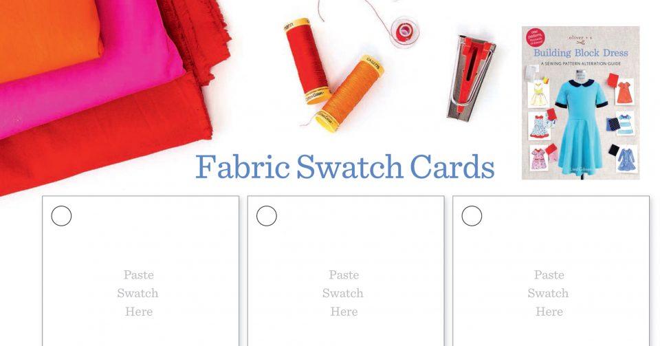 Oliver + S Building Block Dress Swatch Card Set