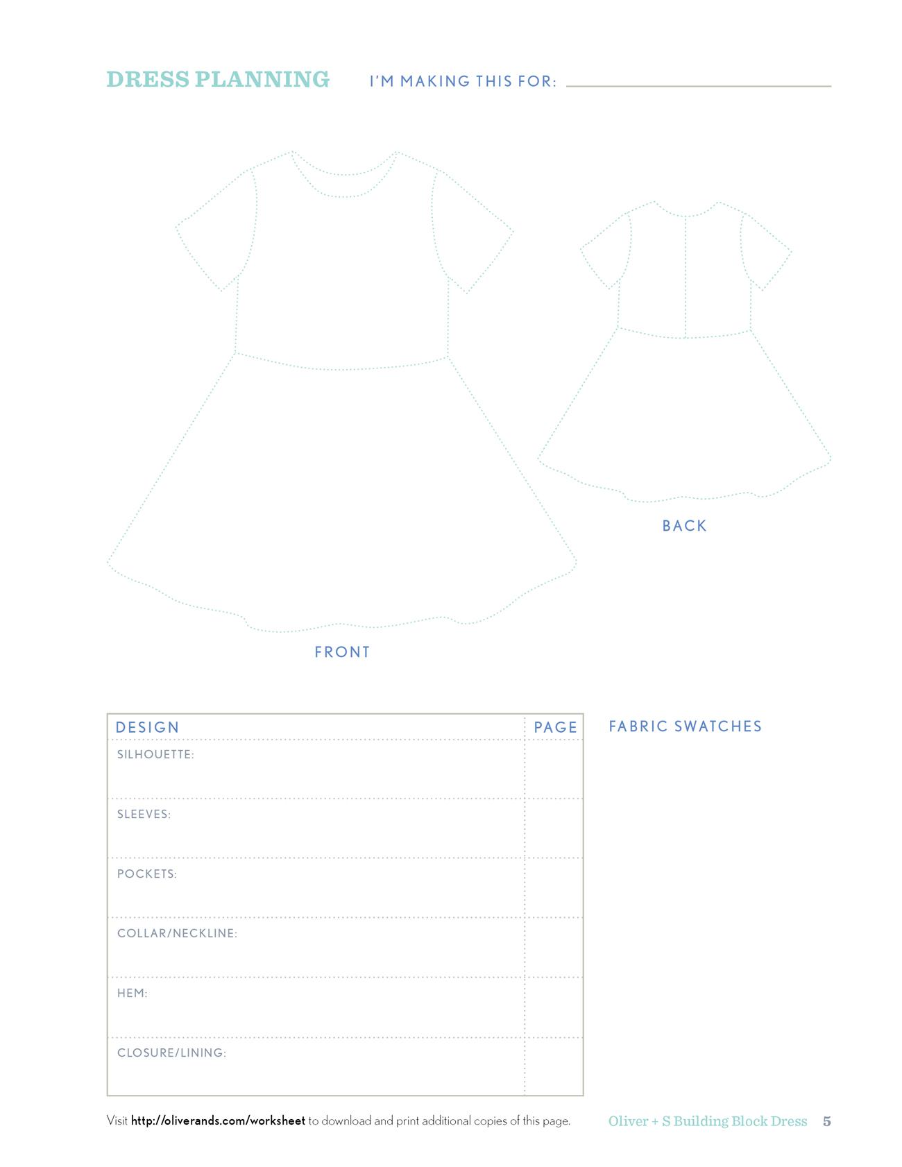 Oliver S Building Block Dress Shop Sewing Machine Diagram Worksheet