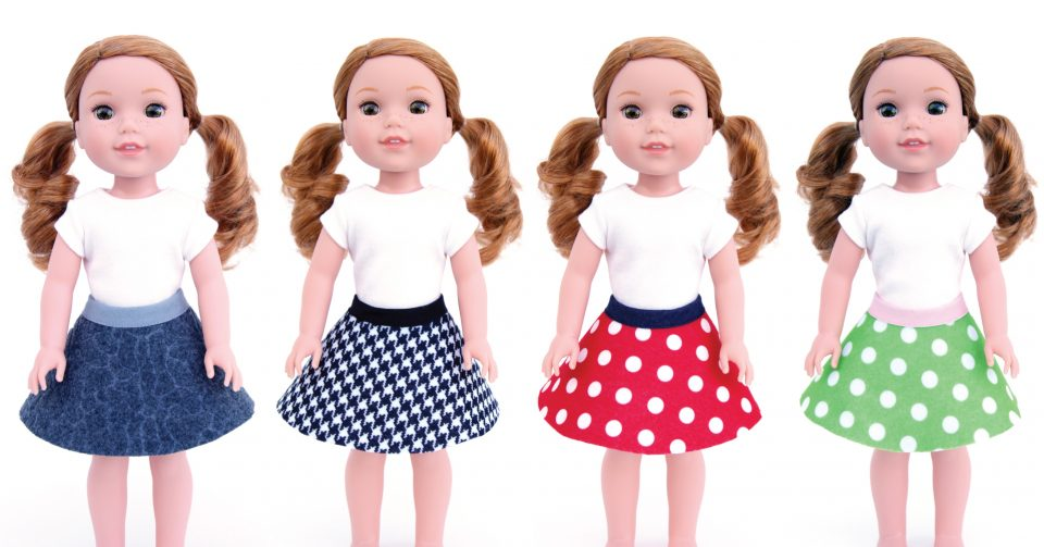 14.5-inch doll skirts