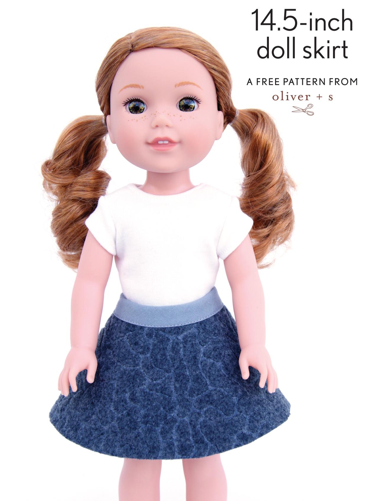 Doll Skirt Pattern 106