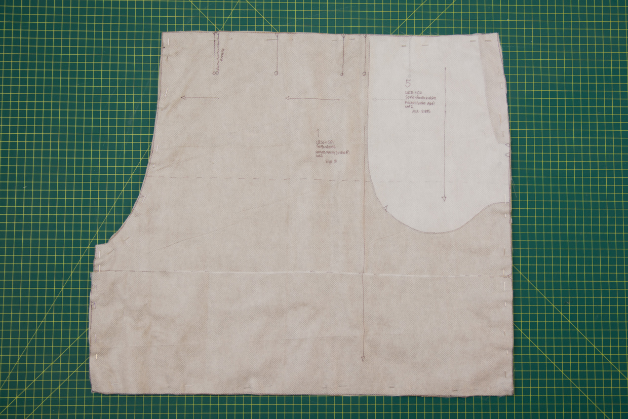 How to line shorts or any pair of pants oliver s for Pattern overlay