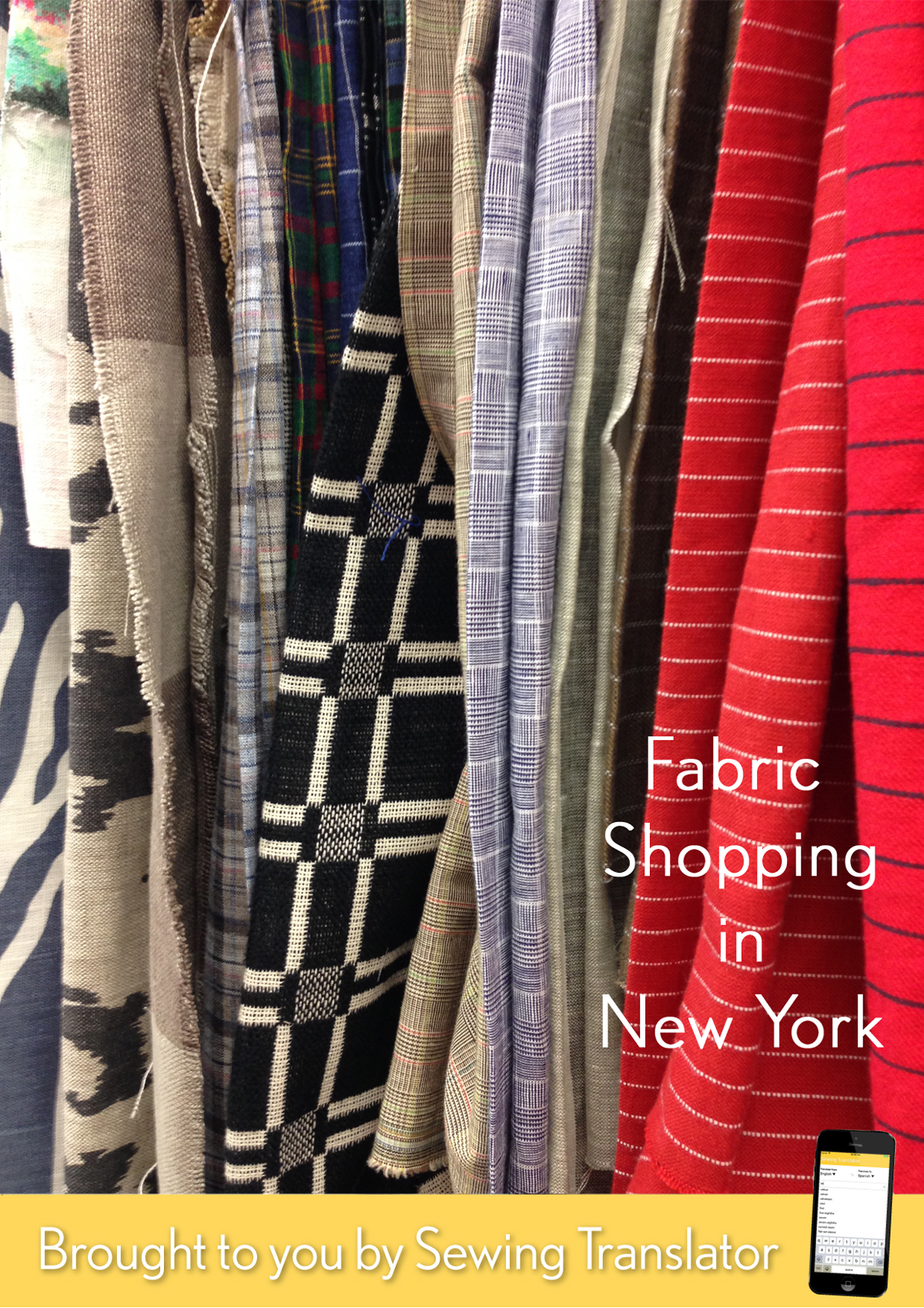fabric shopping in new york's garment district, manhattan