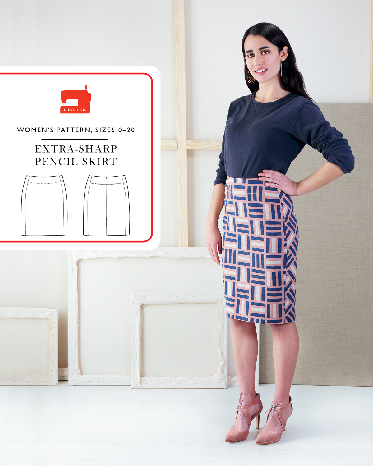 Introducing the Liesl + Co. Extra-Sharp Pencil Skirt Sewing Pattern ...