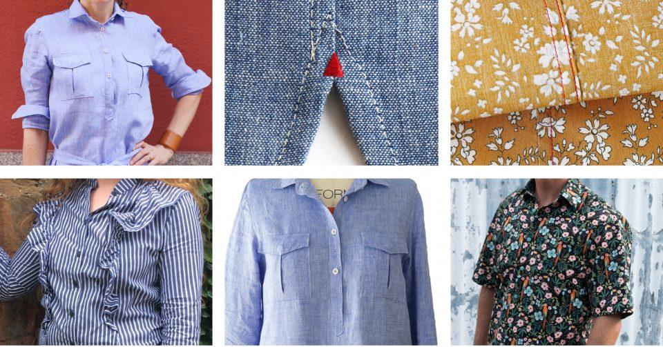 Liesl + Co. button shirt tutorials