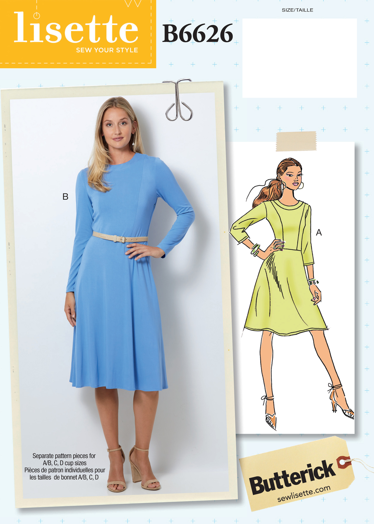 01e584b36c Introducing the New Lisette for Butterick B6626 Dress