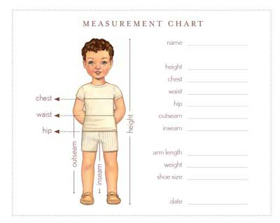 Measurement Chart | Free Sewing Patterns | Oliver + S