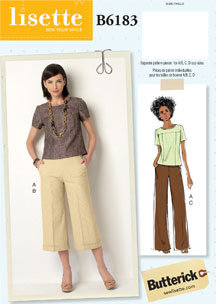lisette for butterick B6183 sewing pattern