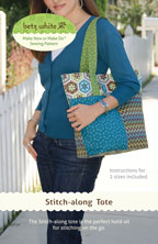 digital stitch-along tote sewing pattern