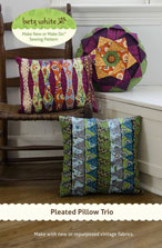 digital pleated pillow trio sewing pattern