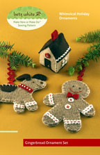 digital gingerbread ornament set sewing pattern