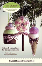 digital sweet shoppe ornament set sewing pattern