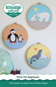 digital polar pal appliques sewing pattern