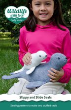 digital slippy and slide seals sewing pattern