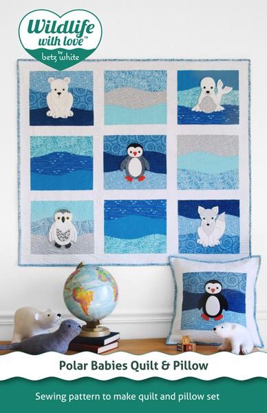 Digital Polar Babies Quilt Pillow Sewing Pattern