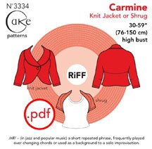 digital carmine knit shrug sewing pattern