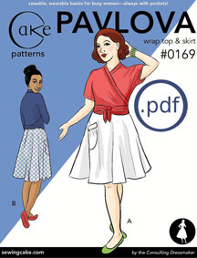 digital pavlova wrap top sewing pattern
