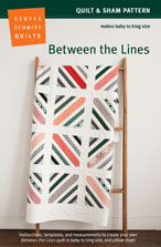 digital between the lines quilt + sham pattern