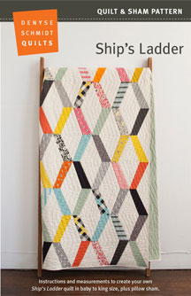 digital ship's ladder quilt + sham pattern
