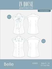 digital belle bow blouse sewing pattern