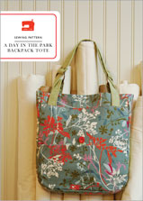 digital a day in the park backpack tote sewing pattern