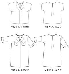 weekend getaway blouse + dress sewing pattern