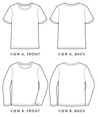 men's metro t-shirt sewing pattern
