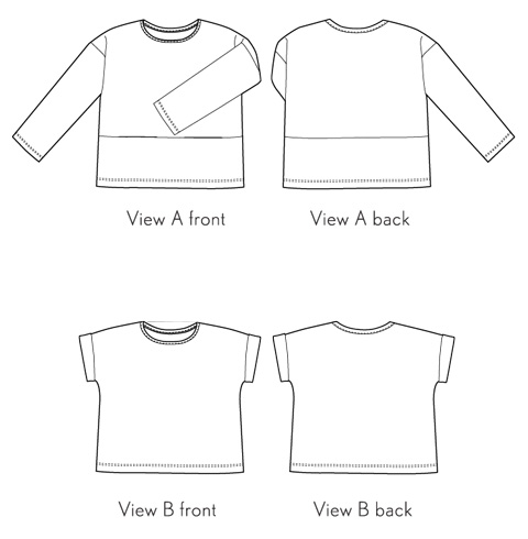 bento tee sewing pattern