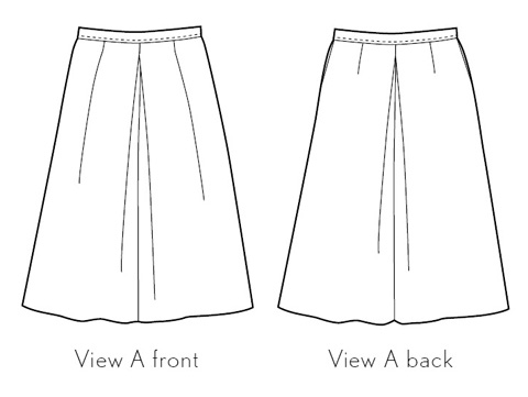 girl friday culottes sewing pattern