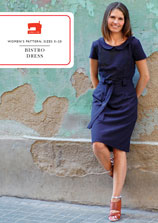 digital bistro dress sewing pattern