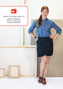 digital city stroll wrap skirt sewing pattern