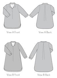 gallery tunic + dress sewing pattern