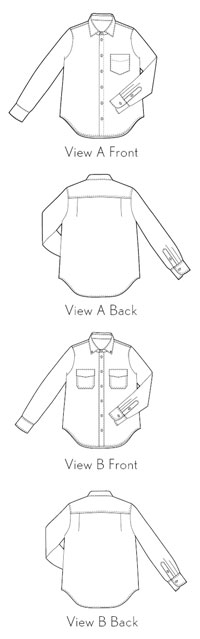 digital all day shirt sewing pattern