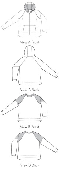 digital neighborhood sweatshirt + hoodie sewing pattern