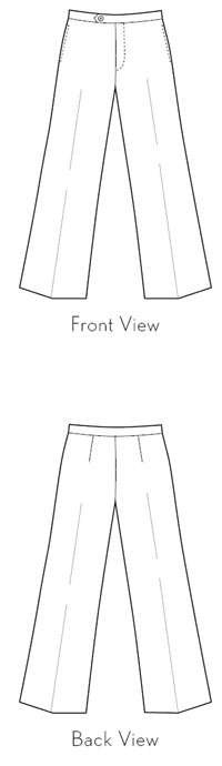 Hollywood Trousers sewing pattern