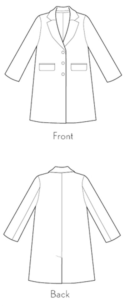 Chaval Coat sewing pattern