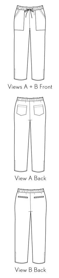 Montauk Trousers sewing pattern