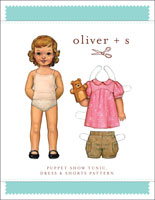 digital puppet show tunic, dress + shorts sewing pattern