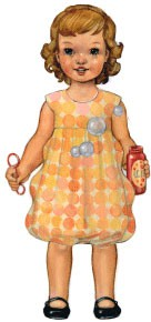 digital bubble dress sewing pattern