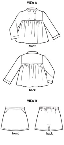 sunday brunch jacket + a-line skirt sewing pattern