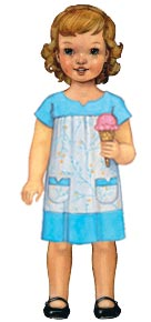 digital ice cream dress sewing pattern