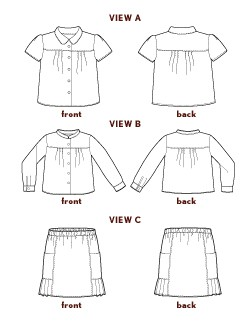 digital music class blouse + skirt sewing pattern