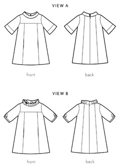 digital school photo dress sewing pattern