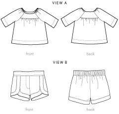 class picnic blouse + shorts sewing pattern