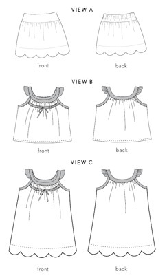 badminton skort, top + dress sewing pattern