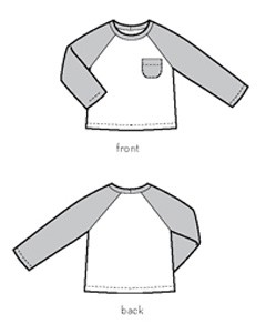 field trip raglan t-shirt sewing pattern