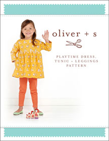 playtime dress, tunic + leggings sewing pattern